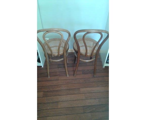 Duo de chaises bistrot de Jacob et Joseph Kohn