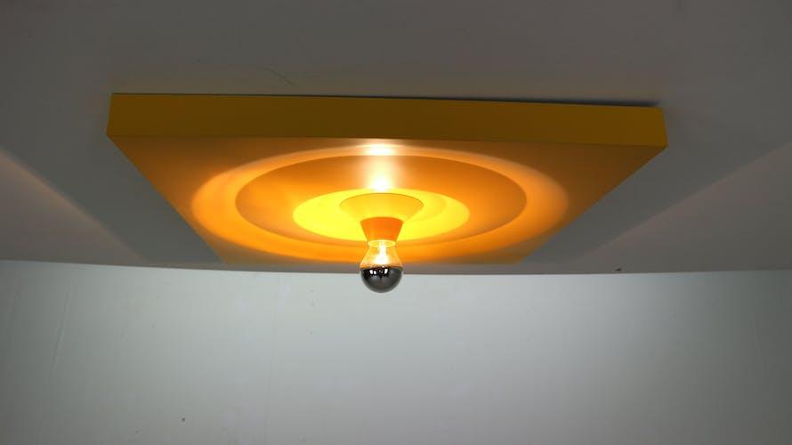 Set of 3 wall lamps by Klaus Hempel for Kaiser Leuchten, 1970