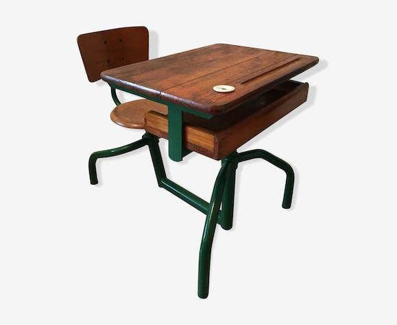 pupitre bureau d colier ancien bois mat riau bois. Black Bedroom Furniture Sets. Home Design Ideas