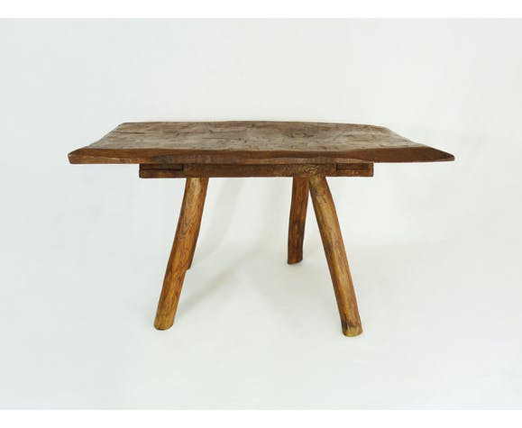 Table basse vintage brutaliste, années 60