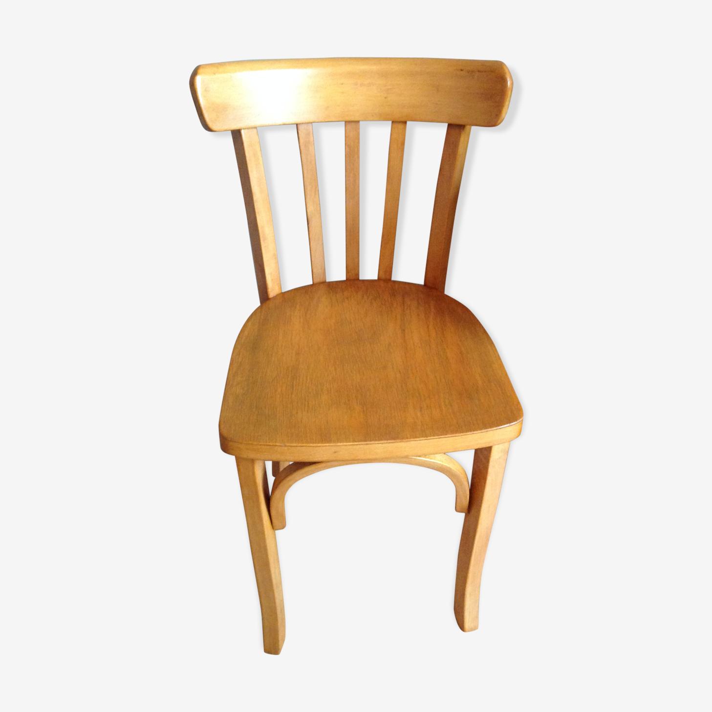 Chaise de bistrot Luterma pieds avec arceaux vintage années 40-50