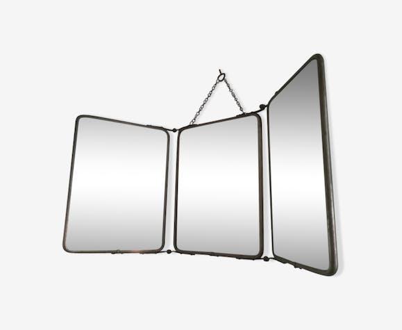 Miroir de barbier triptyque 59x25cm