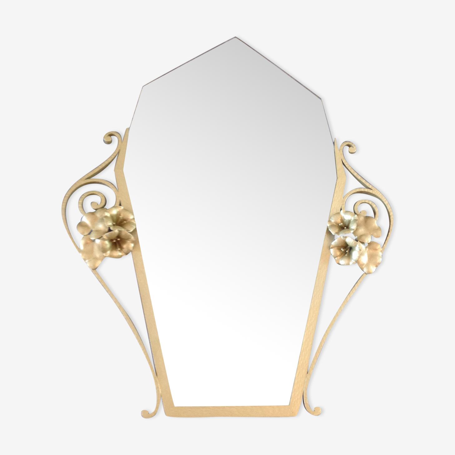 Miroir doré art déco 69x85cm