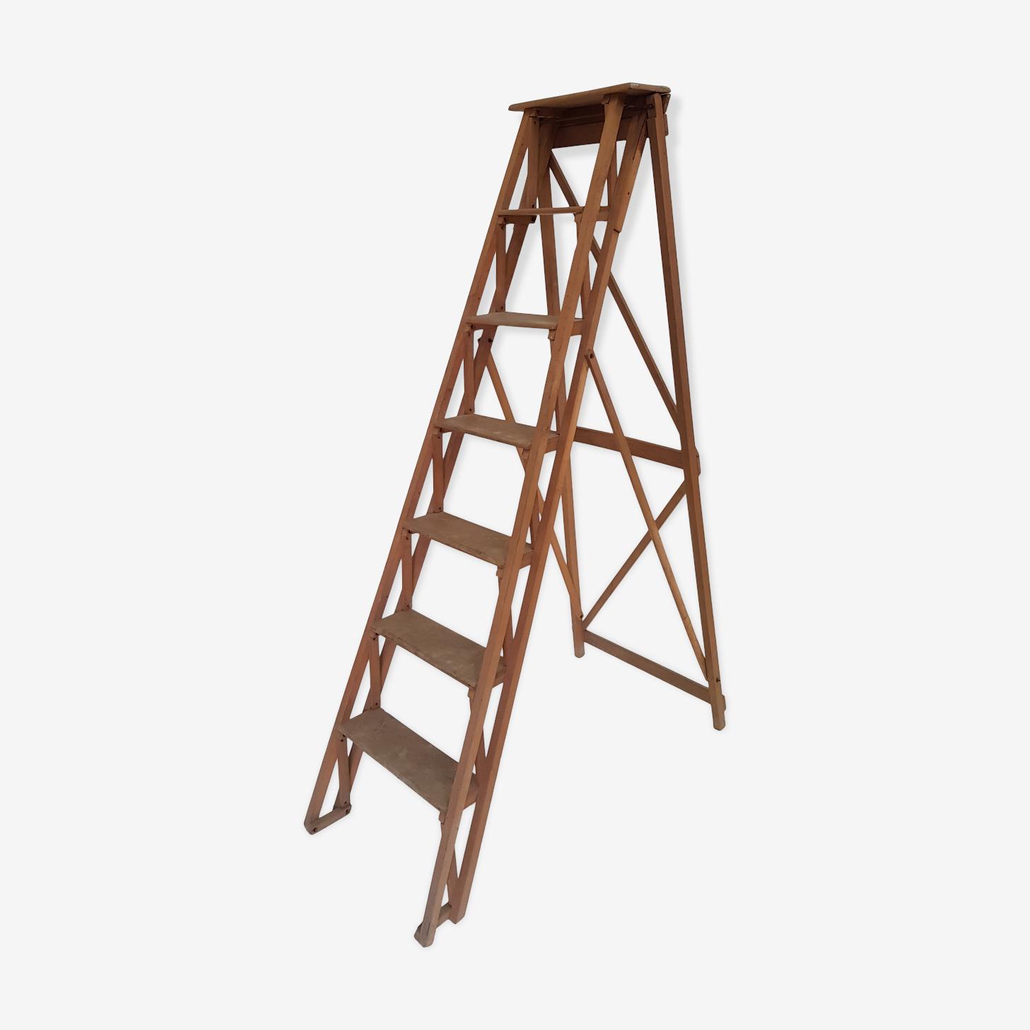 Stepladder decorative vintage wooden