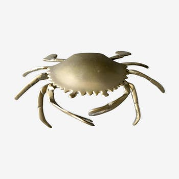 Cendrier crabe en laiton des années 60/70