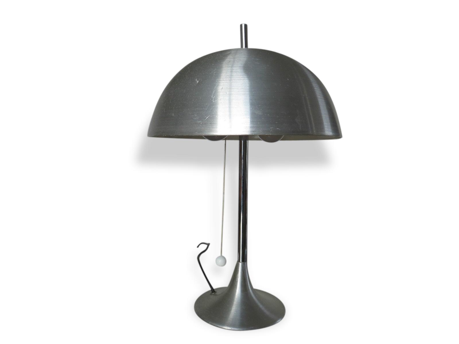 Lampe Champignon Alu Éditions Disderot Années 60 70 - Métal