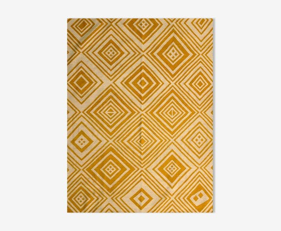 Kilim blanc et jaune collection kasai  182 x 242 cm