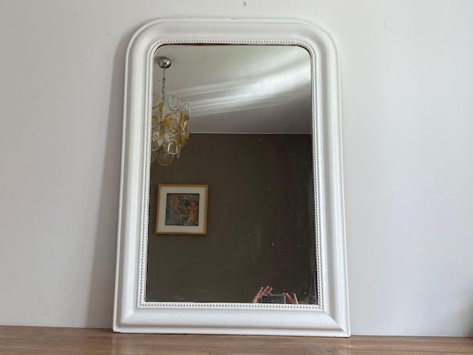Miroir Louis Philippe fin 19ème blanc.