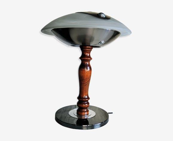 Lampe Coupole  Verre Métal argent