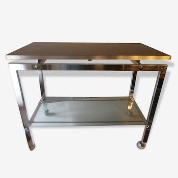 desserte table basse roulante usm haller design fritz. Black Bedroom Furniture Sets. Home Design Ideas