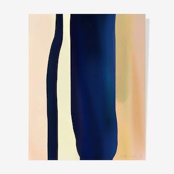 Blue Deep Ink — 40 x 50 cm