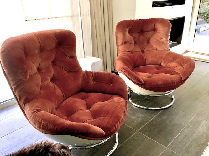 Paire de fauteuil Sopho de Pierre Cadestin pour Airborne