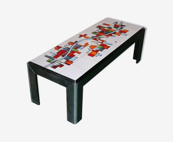 Table basse carrel e en c ramique pour adri belgique - Table basse ceramique design ...