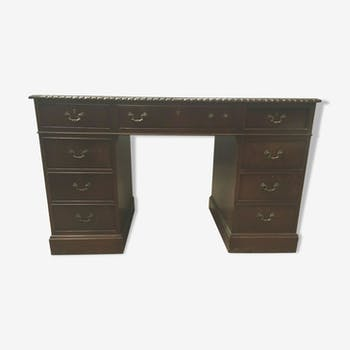 Desk style english mahogany and mahogany flat