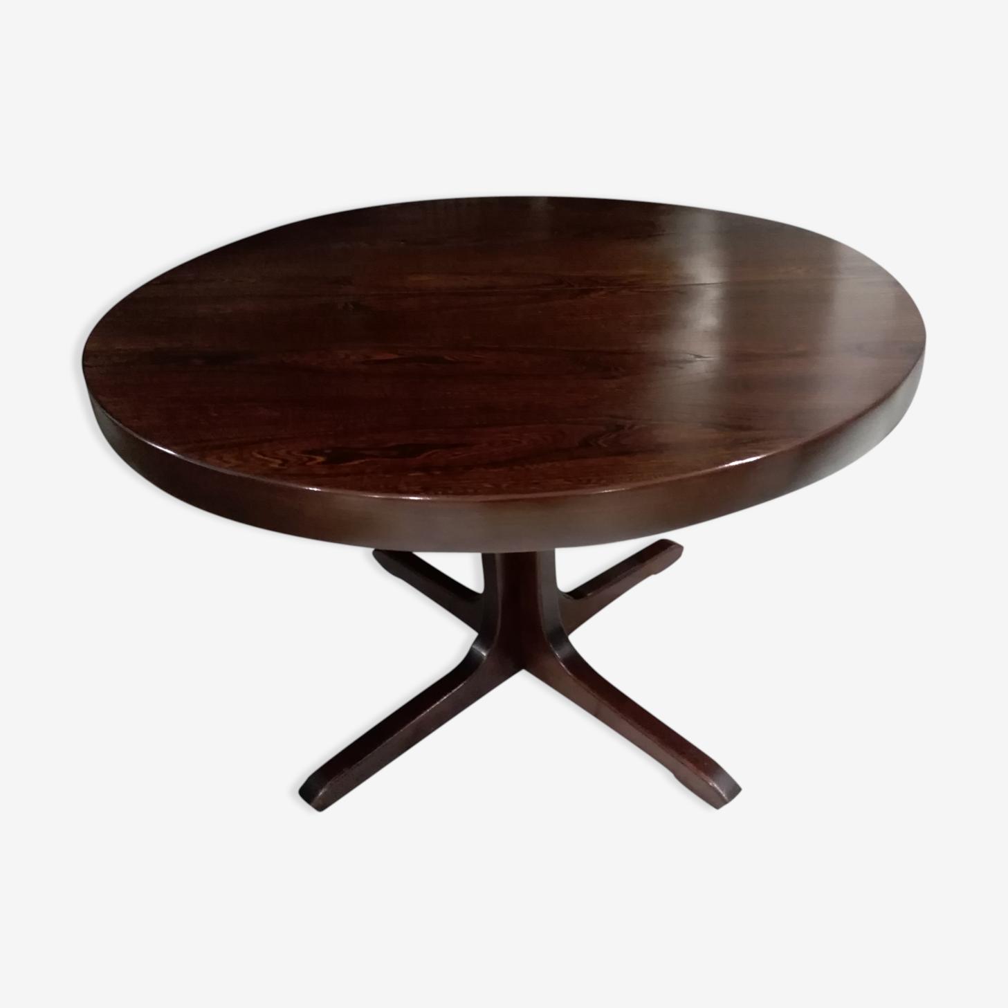 Round dining table extendable baumann 1970