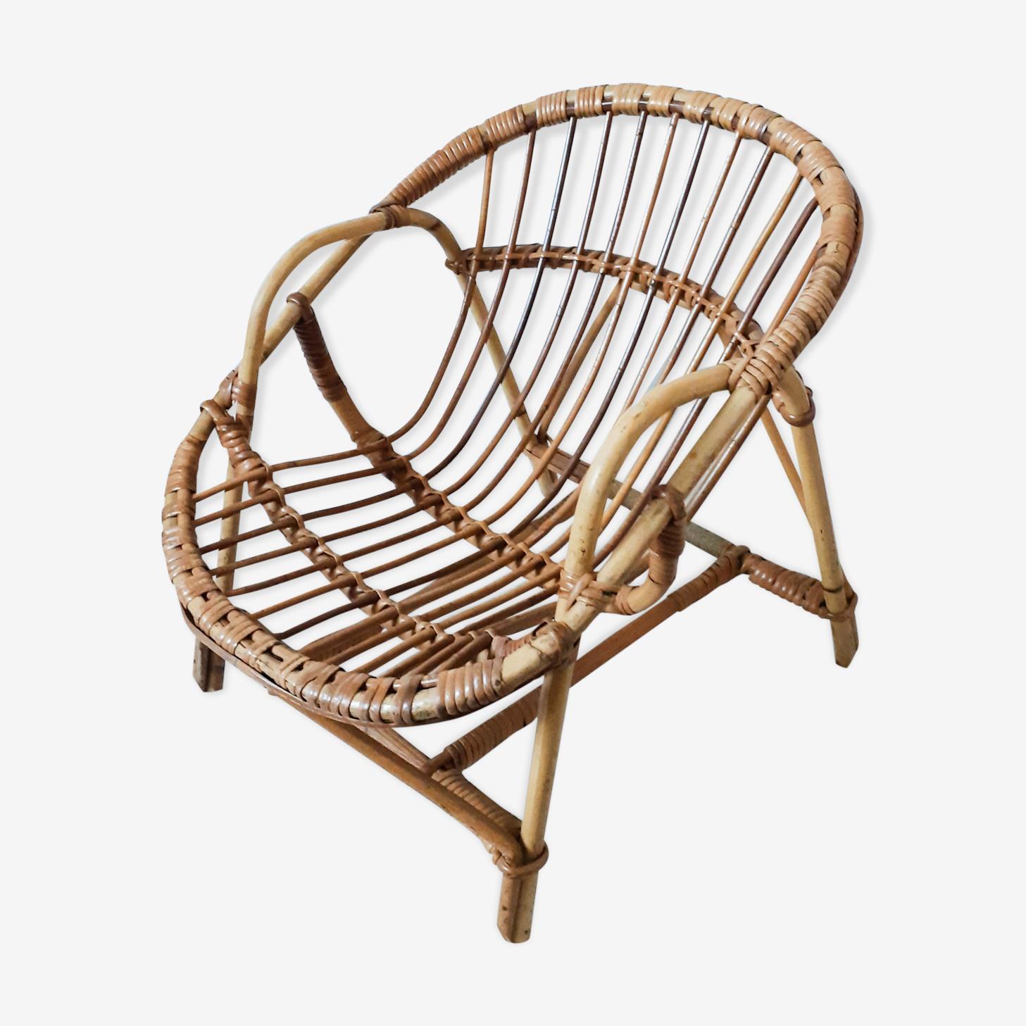 Basket child rattan armchair