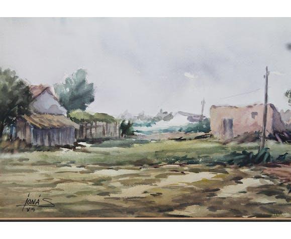 Watercolor by Jonás Navarro 1989
