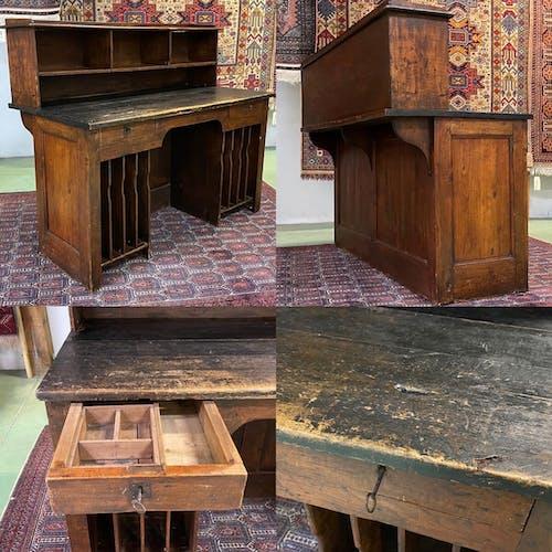 Comptoir-bureau de poste du XIXème en peuplier