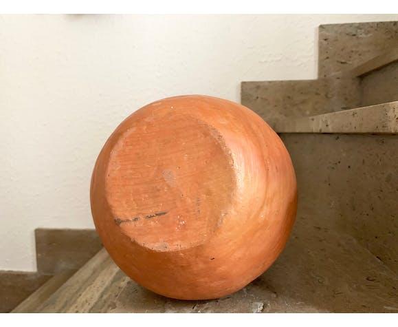 Vase à anses en terre cuite années 70