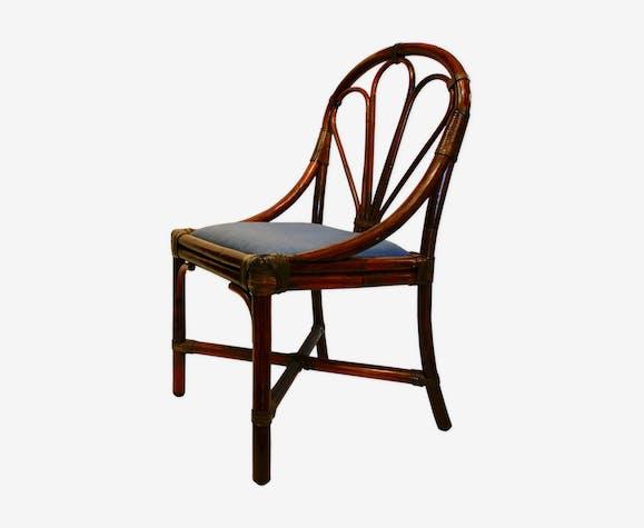 Chaise En Rotin Maugrion Xxe Siecle Selency