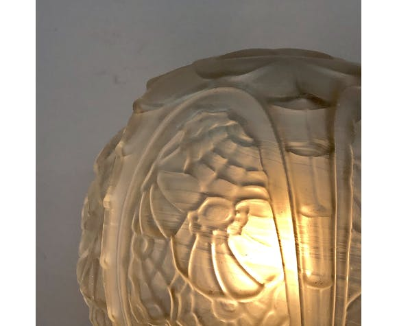 Applique globe art déco en verre