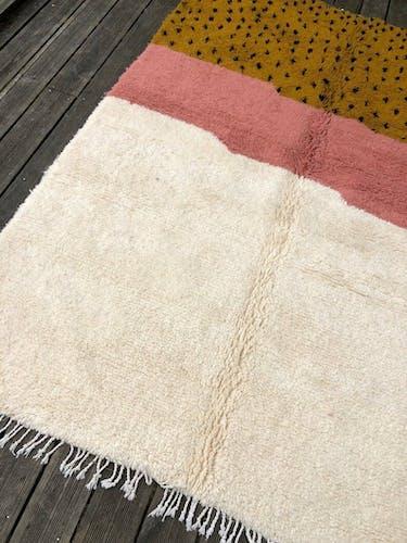 Tapis berbère 180x255 cm, fait main en laine