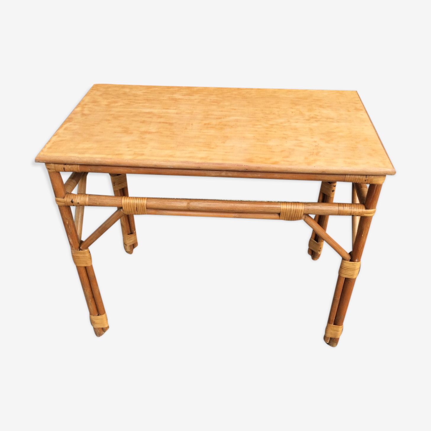 Table sam bamboo vintage 1960