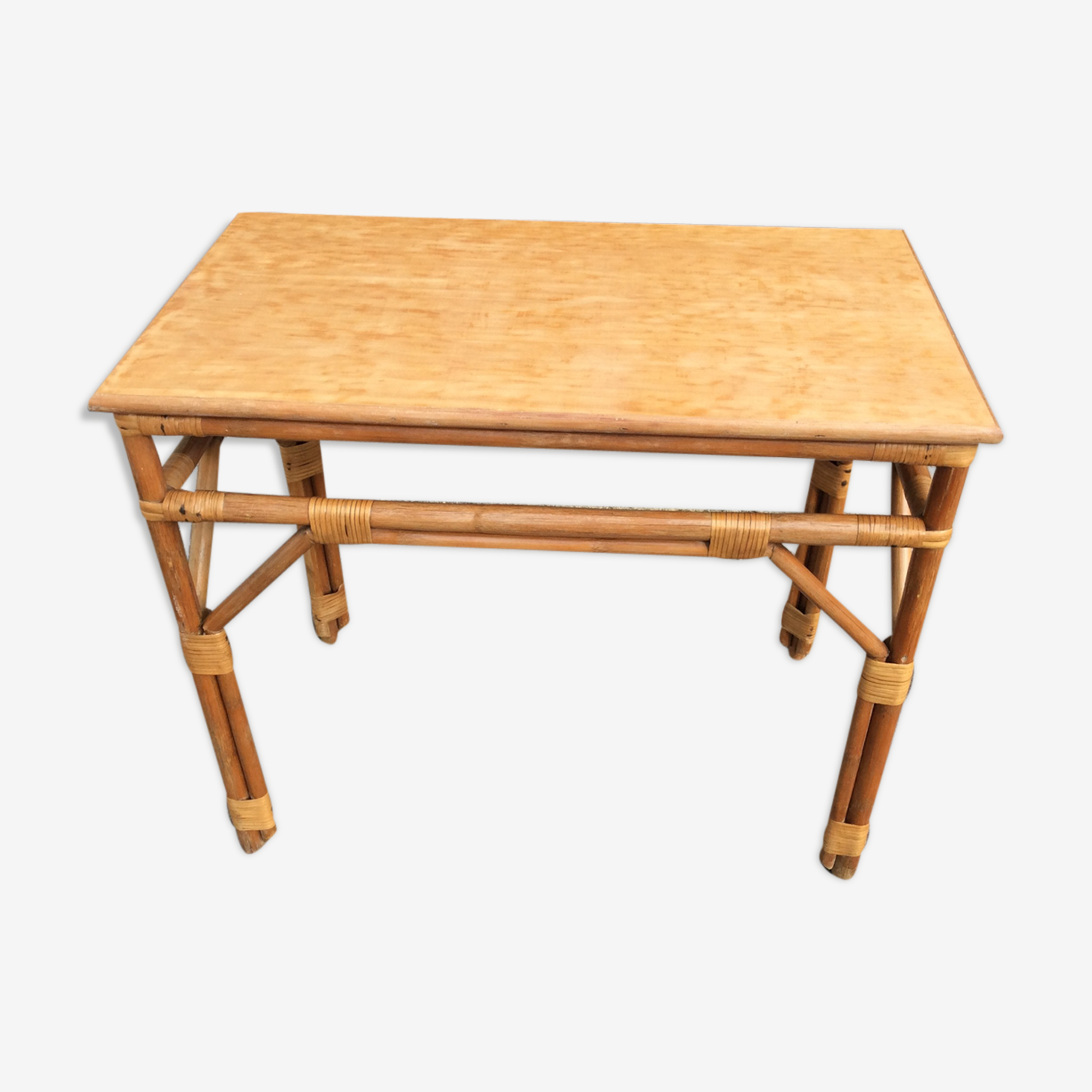 Table bambou vintage 1960