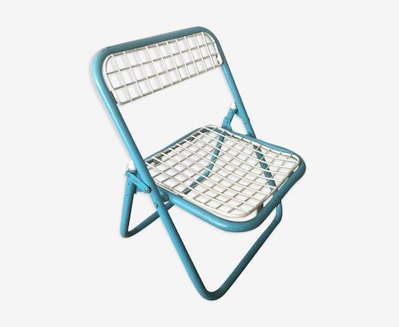 0wmNn8 Blanc Enfant Bleu Et Metal Chaise Pliante b6vYfgy7
