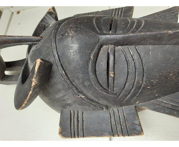 Masque africain avec ibis