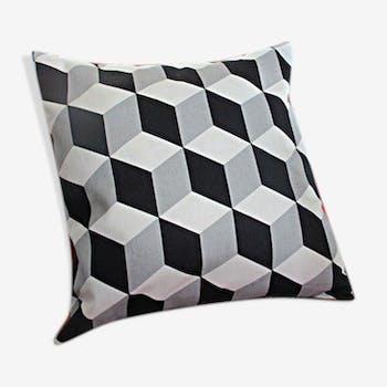 Coussin motifs noir et blanc 40x40cm