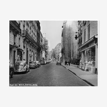 Tirage photographique encadré Paris en 1965 Paris XVI