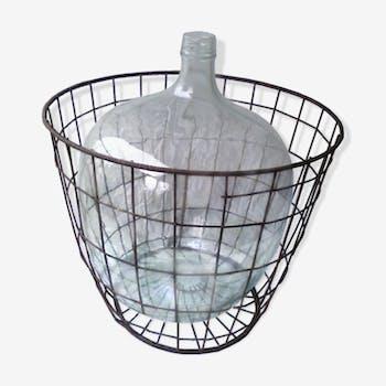 XXL demijohn in her metal basket