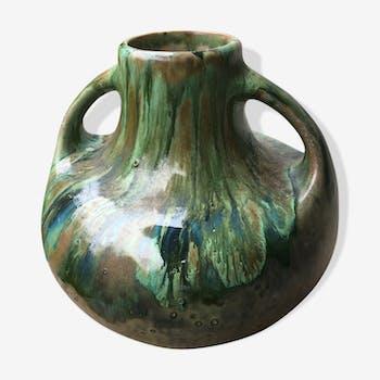 Vase en grès de Saint Amand signé Bady