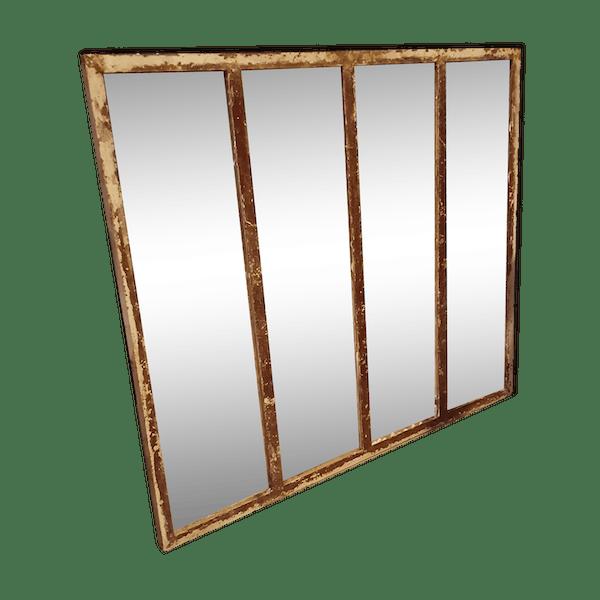 miroir industriel fer marron industriel ylkhlbk. Black Bedroom Furniture Sets. Home Design Ideas