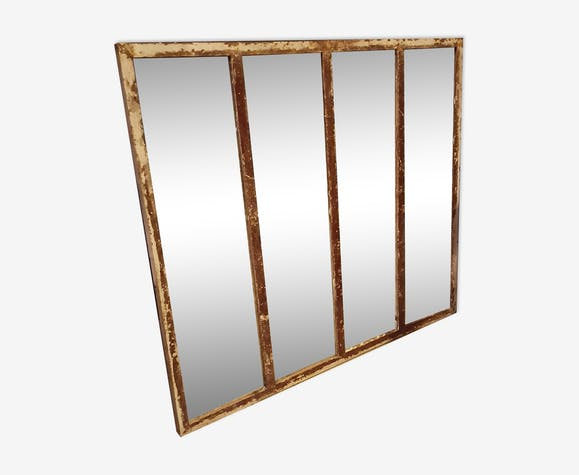 Miroir industriel fer marron industriel ylkhlbk for Miroir industriel