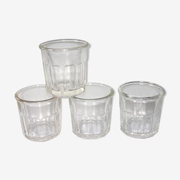 Set of 4 antique jam jars