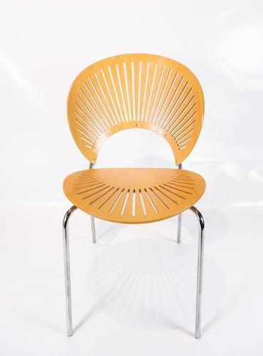 Ensemble de quatre chaises Trinidad en hêtre conçues par Nanna Ditzel