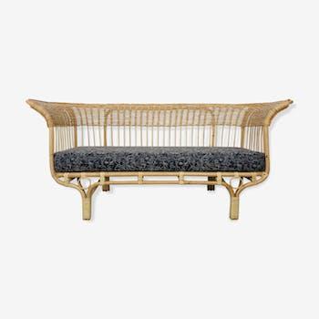 1950s rattan sofa by Franco Albini
