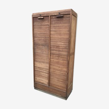 Curtains of notary oak filing cabinet
