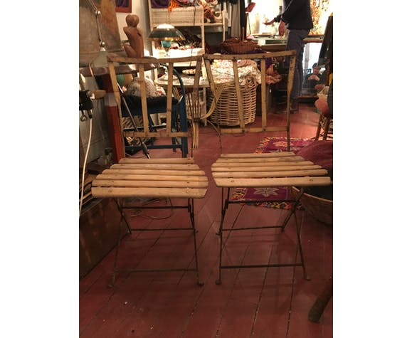 Pair of 1920s garden chairs