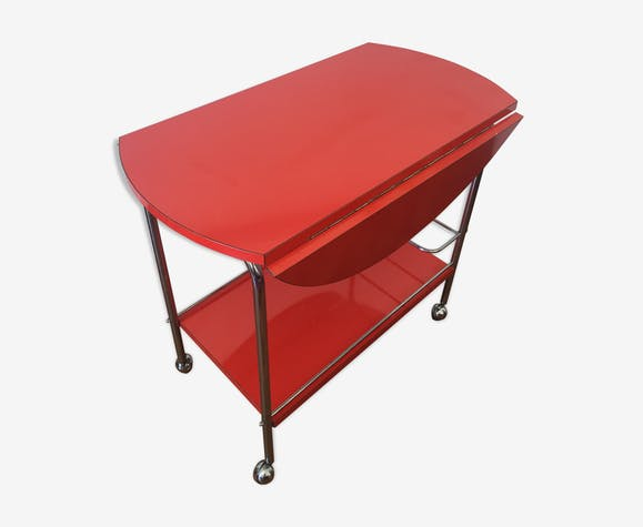 Serving Cart Convertible Bar Table Dining 70s