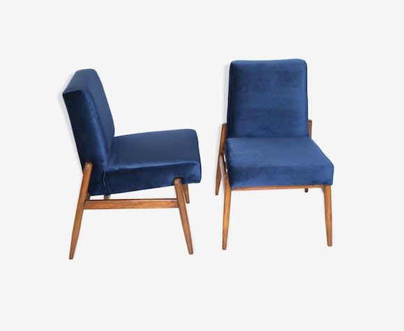 Ensemble de fauteuils en velours bleu