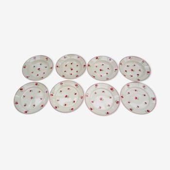 8 Old Badonviller plates