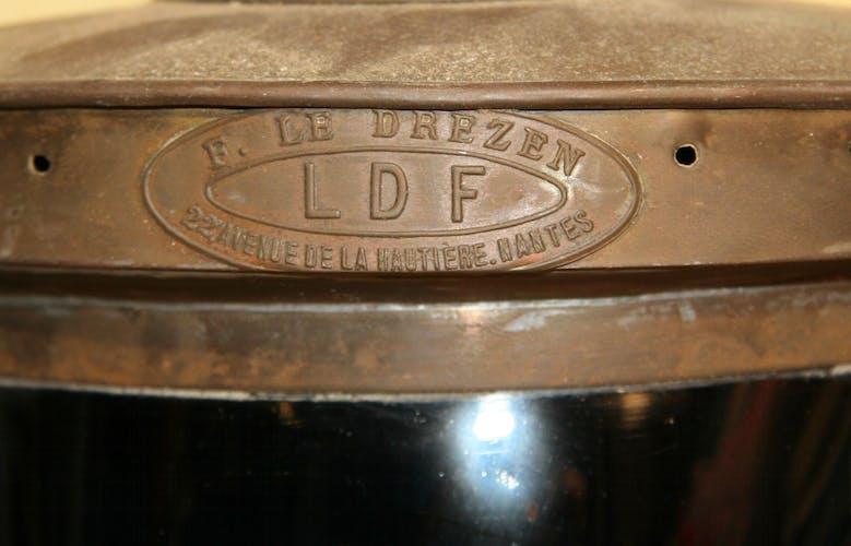 Paire de fanaux babord/tribord signés  Firmin Le Drezen (LDF) début XXéme