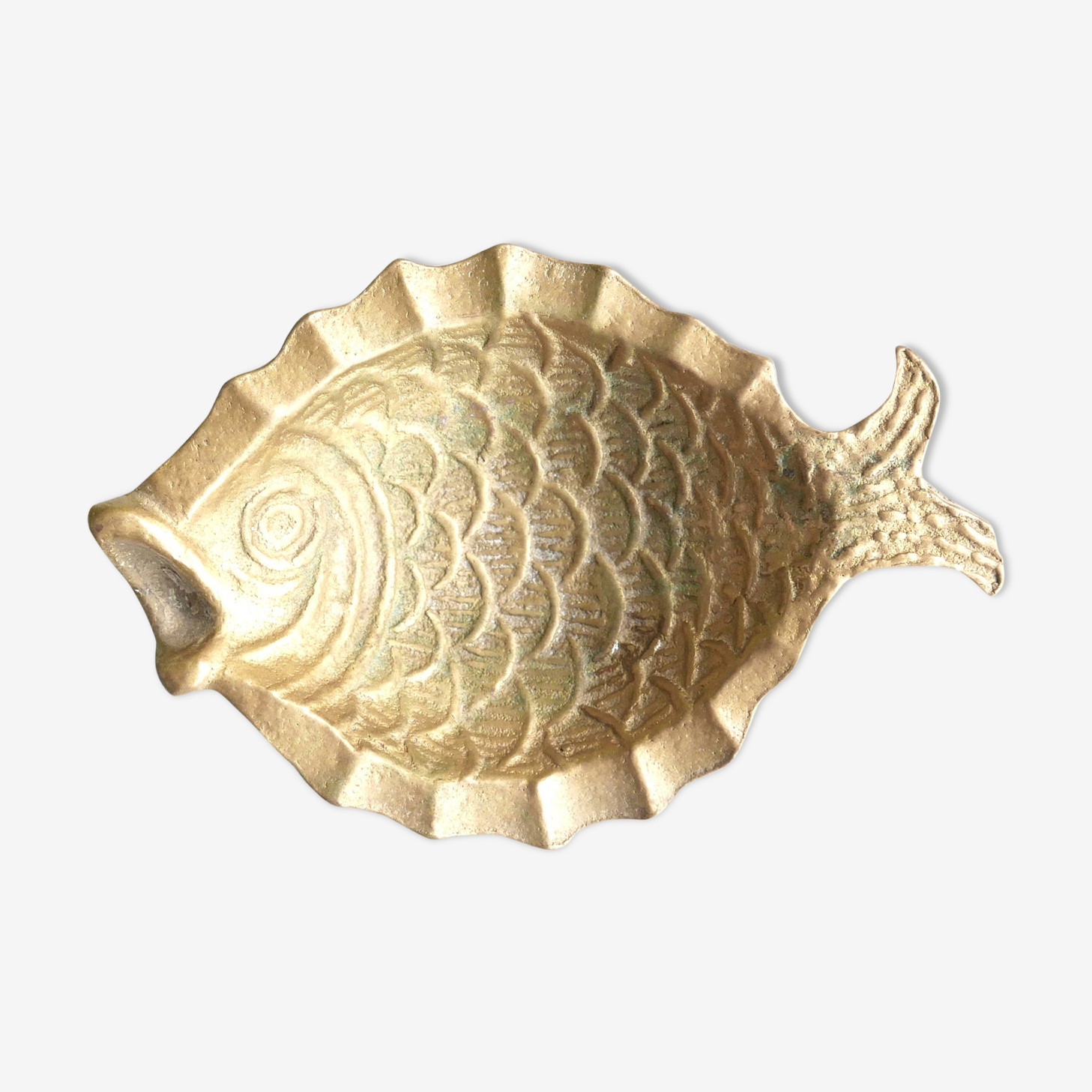 Vide poche poisson en laiton des années 50