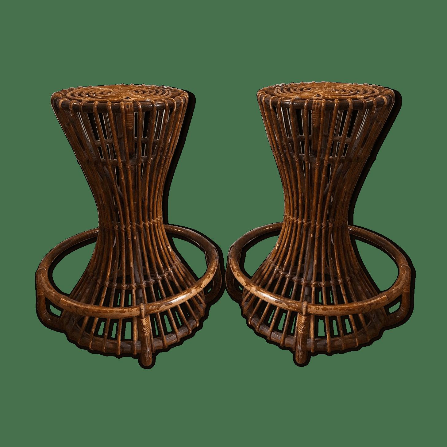 Paire de tabourets par T. Agnoli