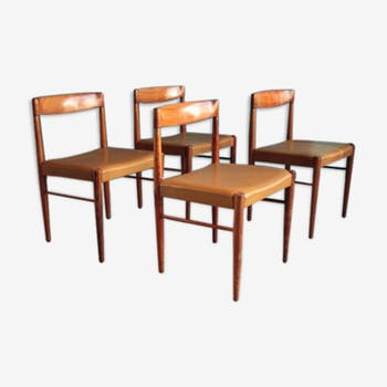 Chairs mid-century rosewood by H.W. Klein for Bramin, Denmark, set of 4