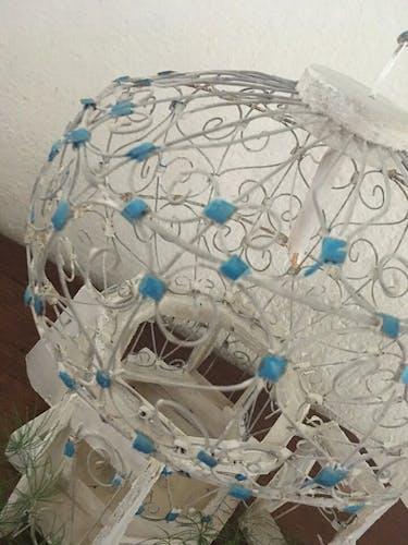 Cage à oiseaux décorative fer et bois