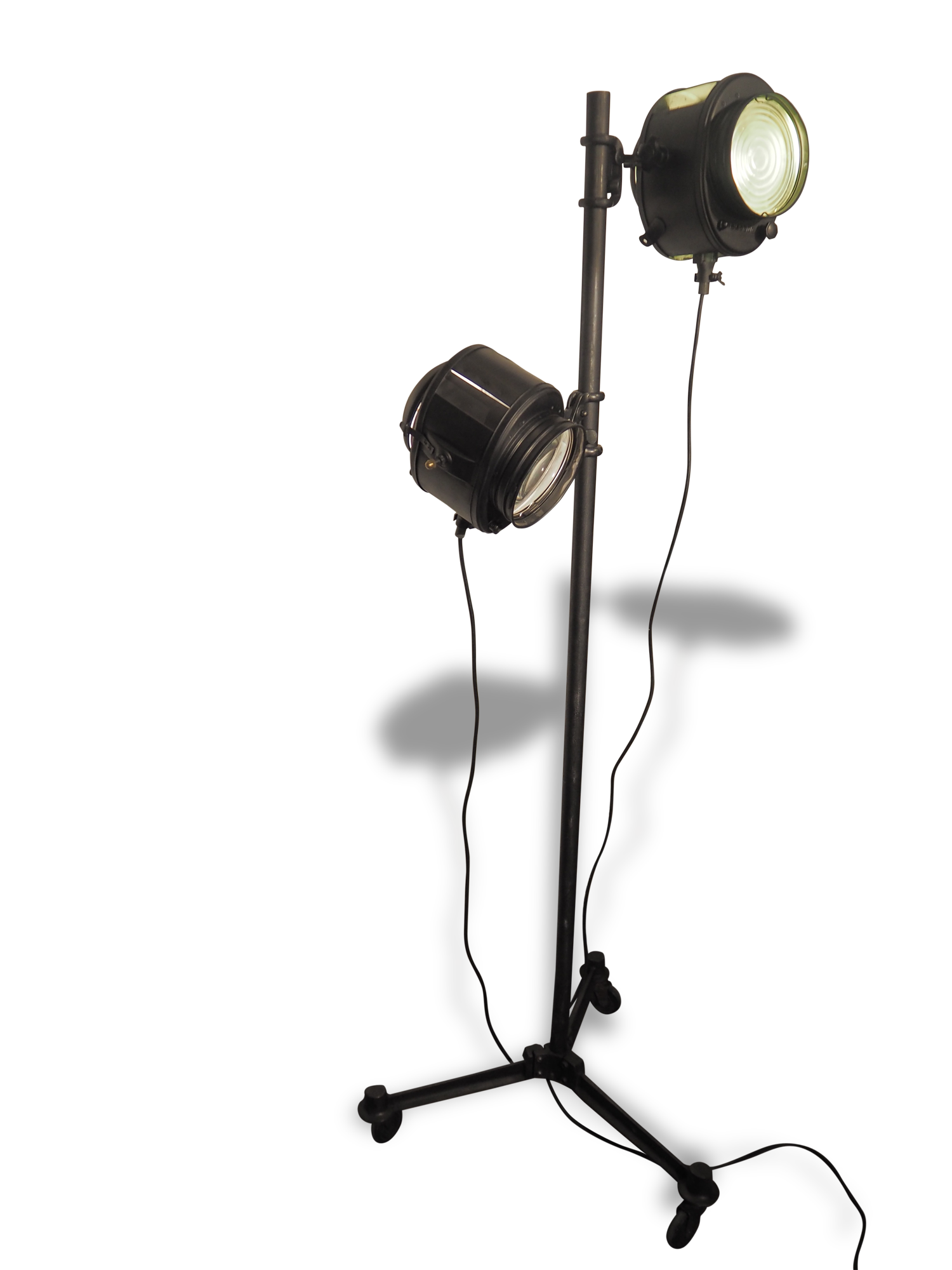 Projecteur cinema cremer lampadaire double